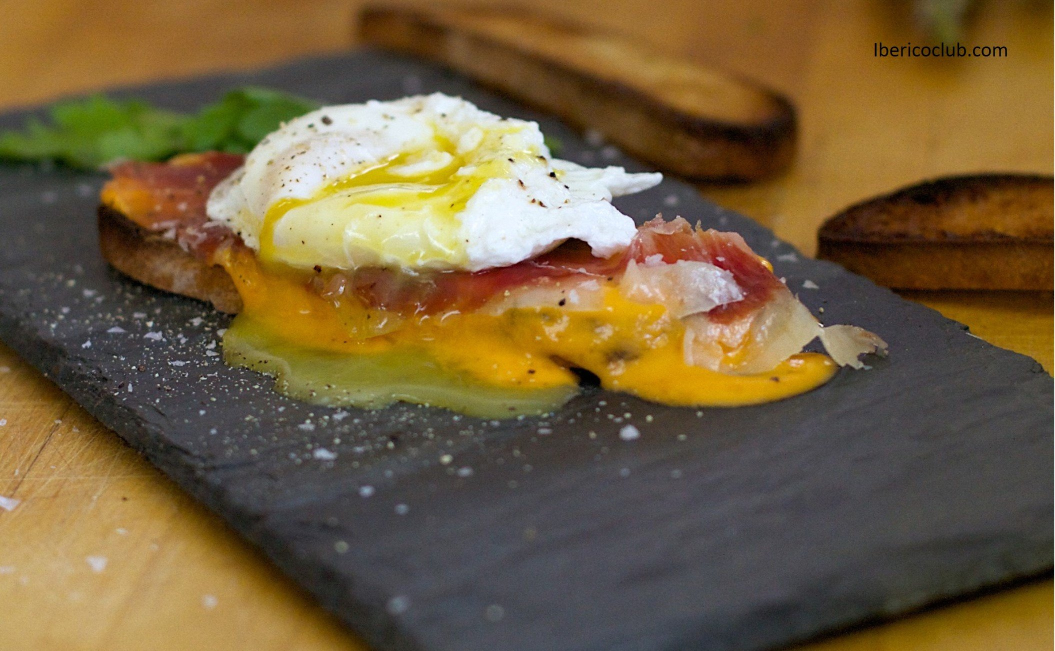 Poached Egg & Jamón Ibérico with Salmorejo Recipe