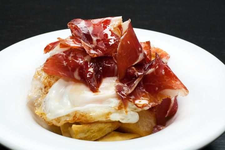 Huevos rotos con jamón ibérico or Broken Eggs with Iberian Ham